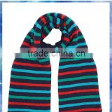 young boys multi-color knit striped scarf /machine knit scarf pattern/ double knit scarf pattern