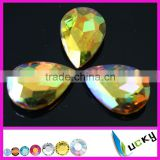 Wholesale high quality topaz ab stones crystal material can be with/without settings for jewelry making