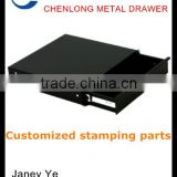 OEM black powder painting metal drawer with slide cabinet