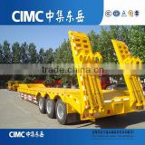 tri axle side wall lowbed semi trailer with parabolic leaf spring for bulk cargo(step-wise or flatbed platform optional)                                                                         Quality Choice