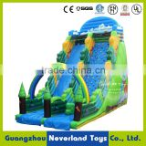 Best Quality NEVERLAND TOYS Forest Inflatable Rock Climbing Wall Funny Inflatable Climbing Holds With Slide For Kids And Adults