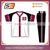 Stan Caleb Sublimated custom dri fit youth 100% polyester baseball jerseys Custom blank for sale
