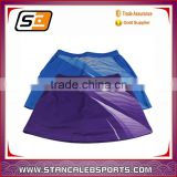 Stan Caleb high quality polyester mix spandex breathable women tennis skirt & tennis dress ladies short skirt wholesale