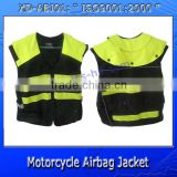 light-green color motorcycle reflective safety airbag jacket XD-ABJ01