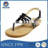 New Model Summer Fashionable No Heel Thong Sandals for Girls