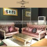 silver gilded antique classical bright color velvet sofa set from danxueya manufacture DXY-829#