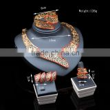 African 2016 dubai gold jewerly set factory pearl necklace earrings jewelry set