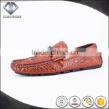 genuine cow leather fashion no lace loafer slip on dress shoes men footwear 2016