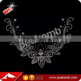 Beautiful Neckline Iron On Rhinestone Transfer Designs