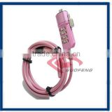 password security lock/ Portability Lock /Laptop encryption alloy lock Steel wire rope cable