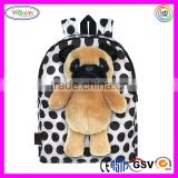 B593 Custom Dog Toy Dolls with Pull Out Backpack Kids Plush Animal Best Backpack Brands