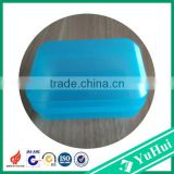 China hot sale transparent blue plastic soap holder,plastic clear boxs