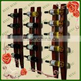 luxurious hanging wooden wine rack for hot sale,wooden bottle holder