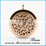Guangzhou 30MM Round Locket Silver Essential Oils Perfume Diffuser Stainless Steel Aromatherapy Necklace