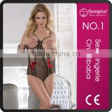 Hot sale Sunspice sexy adult bodysuit open cup bodystocking