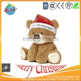 christmas gifts 2017 plush elf toy bear with christmas clothing
