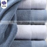 Pure White Custom Embroidery Logo Bathroom Towels 5 Star Hotel Towel Set for cheap wholesale