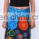 Reversible Classic Long Wrap Skirt With Patch Pocket
