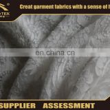 Polyester rayon burnout spandex embroidery lace fabric for evening dress