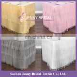 TS092A wholesale organza fabric latest wedding decoration table skirting