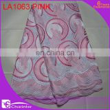 voile lace heavy lace african lace fabric swiss cotton voile lace cotton embroidery lace LA1063 pink