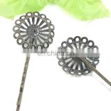 flower shape hair clip in anti-brass color