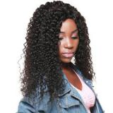 12 Inch All Length Cambodian 20 Inches Front Lace Human Hair Wigs Natural Black