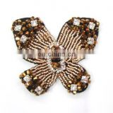 2013 newest beaded handmake butterfly hair comb hair headband hair pin hair accessory garment accessory