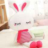 Dongguan Xianling plush toy custom manufacturer big ear rabbit new custom company mascot