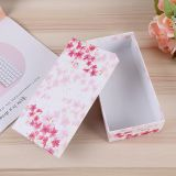 Foldable jewelry carton paper packaging red color box