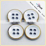 White painting color for 10mm 4H alloy button