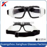 Premium black frame clear lens paintball glasses protective balistic basket soccer shooting with anti slip strap