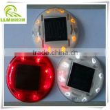 Direct manufacture 360 degree visible colorful IP67 waterproof plastic round solar road stud