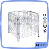 Wire mesh pallet cage for sale