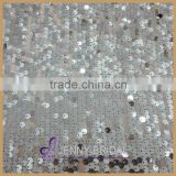 SQN#69 6mm silver sequin round wholesale table linens for wedding