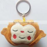 Free sample of Monkey Emoticon Key Ring/New wholesale emoji keychains/Cute Plush Emoji Keychains