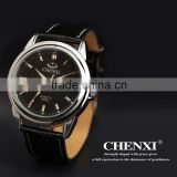 China CHENXI leather watch 005AML,Genuine cow leather or PU leather watch for Customized your logo