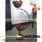 Wrought Iron Shelves Flower Pot Stand For Garden