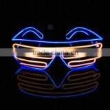 Multi Combination Fashion Party LED Light Eyeglasses EL Flashing Glasses Wire Neon Shutter With Battery Driver Box