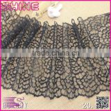 "2016 New Fashion Black white stock 8.26"" Nylon lace for wedding dress lace/sexy lace/Trimming Lace fabric"