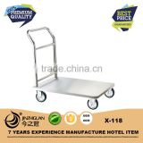 Functional stainless steel airport trolley,hotel baggage trolley(X-118)                                                                                                         Supplier's Choice
