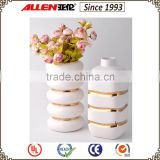 2016 new fashion gold and white ceramic flower vase
