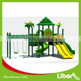 woods outdoor slide sets with swings for backyard LE.SL.018