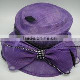 purple Philippine sinamay hats with big bowknot