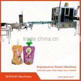 standup pouch filling capping machine/soybean milk filling sealing machine /palstic spout pouch packing machine