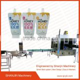 Automatic stand up pouch filling machine/automatic chocolate jam pouch filling capping machine