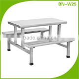 Cosbao stainless steel kitchen fast food table and chairs/restaurant dining table&chairs (BN-W25)