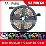 3528 SMD 5M/Roll 60LED/M 300 LED 12V waterproof Flexible Strip Light waterproof motorcycle led strip light 12v