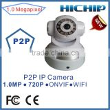 WiFi Onvif 720P HD MegaPixel Digital Zoom Pan/Tilt PTZ Wireless Network IP Camera IR Night Vision P2P TF SD Card Slot