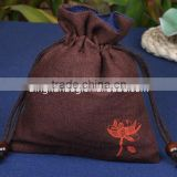 factory good quality small jewelry drawstring bag, gift bag, jewelry pouch with logo in custom